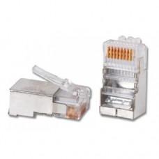 RJ-45. Интернетовский разъем LAN экранированный.