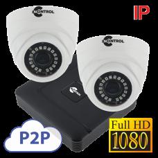 Комплект IP на 4 камеры FullHD