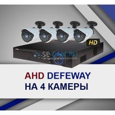 Комплект видеонаблюдения на 4 камеры с вариофокальным объективом 2.8-12мм