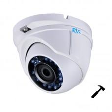 Антивандальная HD-TVI камера видеонаблюдения TVI RVi-HDC311VB-AT (2.8 мм)